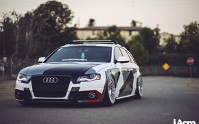 Picture audi, turbo, tuning, germany, low, rs6, rs4