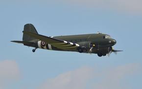 Wallpaper Douglas C-47 Skytrain, airplane, aviation