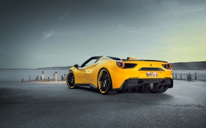 Picture Ferrari, Rosso, supercar, Novitec, Ferrari, back, 488, Spider, car, tuning, auto, novitek, sky