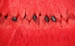 Picture macro, watermelon, the flesh, berry