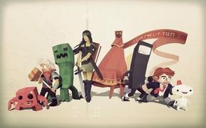Picture game, game, indie, games, minecraft, indie, super meat boy, bastion, bit trip runner