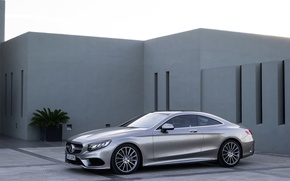 Picture silver, Mercedes Benz, coupe, S-class