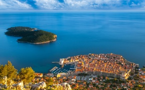 Picture sea, island, Croatia, Dubrovnik
