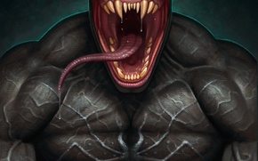 Picture language, art, venom, marvel comics, symbiote, eddie brock