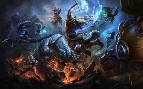 Picture fantasy, monster, fight, art, race