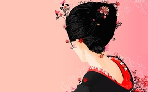 Picture Japanese, Vector, geisha