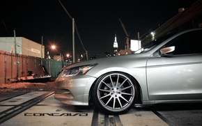 Picture machine, auto, wheel, disk, Honda, Accord, auto, Grey, Matte, Sedan, tinted, Face, Wheels, Concave, Machined, ...