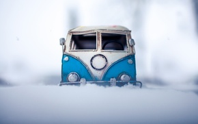 Picture van, photo, toy, winter, the snow, photographer, toy, auto, model, model, shooting, Kim Leuenberger, macro, ...