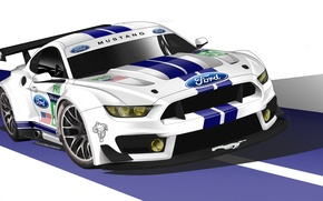 Picture Mustang, Ford, Car, Race, GT350, GTE, 2015