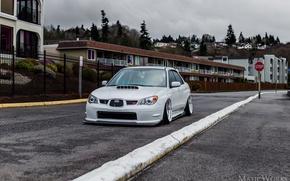 Picture turbo, white, subaru, japan, wrx, impreza, jdm, tuning, power, sti, low, stance
