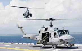 Wallpaper Bell UH-1N, Twin Huey, Bell AH-1, Super Cobra, helicopter, helicopters