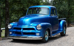 Picture Blue, 1954, Chevy, Truck