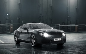 Picture car, machine, water, light, light, water, 2012 Bentley Continental GT V8, 2156x1616