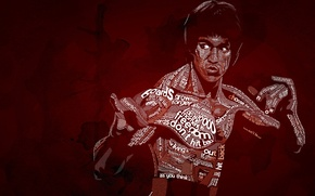 Picture typography, Bruce Lee, Be Water, Typography, Bruce Lee, Nautilus D