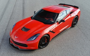 Picture red, Chevrolet Corvette Stingray, tuning, Turbo, Hennessey
