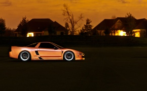 Picture sunset, home, orange, Honda, Honda, orange, Acura, Acura, NSX