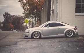 Picture Audi, Audi, tuning, profile, silver, silver, tuning