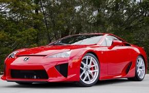 Picture red, Lexus, lfa