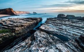 Picture sea, stones, Nature