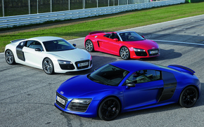 Wallpaper Audi R8, Audi R8 V10, V10, V10 Coupe, Spyder, Supercar, Cars