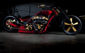 Wallpaper DESIGN, RED, TUNING, DRIVES, WHEEL, ENGINE, BASE, CHOPPER, CHAIN