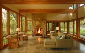 Picture design, style, room, interior, veranda