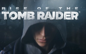 Picture face, hood, Lara Croft, Rise of the Tomb Raider