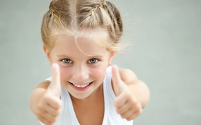 Picture children, smile, mood, girl, class, gesture