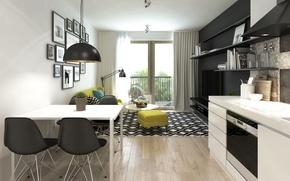 Picture design, style, interior, living room