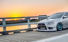 Picture sunset, tuning, Lancer, Mitsubishi, mitsubishi lancer evo x