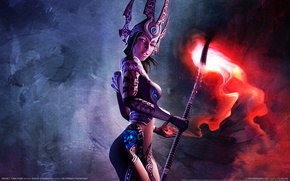 Picture Girl, Armor, Glow, MAG, Staff, Staff, sacred 2 fallen angel