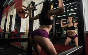 Picture legs, female, mirror, workout, fitness