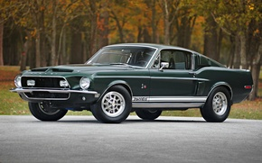 Picture Shelby, GT500, mustang, Mustang, ford, muscle car, Ford, classic, Shelby, the front, 1968, Muscle car, …