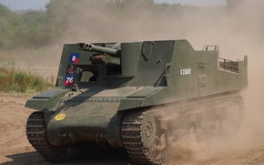 "Picture installation, self-propelled artillery, class, ""Sexton"", self-propelled howitzers, Sexton"