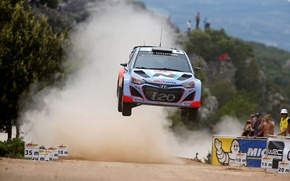 Picture jump, dust, italia, rally, wrc, hyundai, the audience, i20, 2014