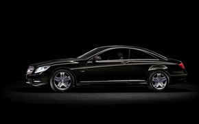 Picture black, mercedes, benz, CL-Class