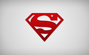 Picture logo, superman, minimalism, comics, hero
