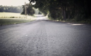 Picture road, macro, background