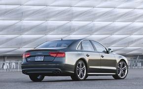 Picture Audi, The evening, Auto, Audi, Machine, Grey, Sedan, TFSI