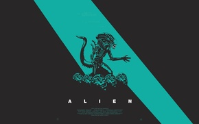 Picture alien, anniversary, poster, 35th