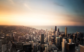 Picture USA, United States, Chicago, Illinois, skyline, buildings, architecture, skyscrapers, America, United States of America, offices, ...