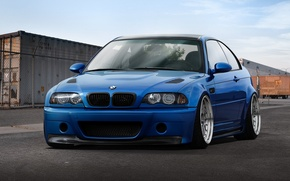 Picture blue, BMW, BMW, container, blue, E46