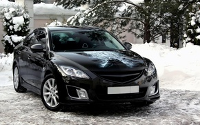 Picture snow, Mazda 6, Batman