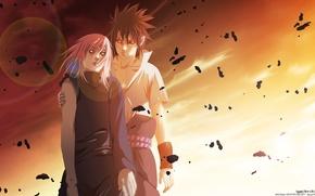 Picture anime, Sakura, art, Sasuke, Naruto