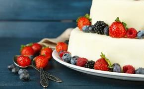 Picture raspberry, food, strawberry, cake, cake, fruit, cake, cream, dessert, food, BlackBerry, sweet, fruits, cream, dessert, …