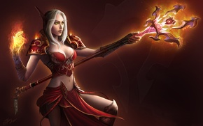 Picture fire, MAG, staff, WoW, elf, World of warcraft, Blood Elf