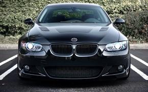 Picture black, BMW, BMW, Parking, black, Coupe, 335i, E92