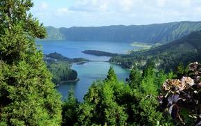 Picture nature, lake, Portugal, Azores