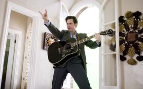 Wallpaper guitar, Jim Carrey, Jim Carrey, Always say Yes, yesman