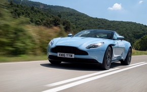 Picture road, car, machine, Aston Martin, speed, supercar, road, speed, DB11